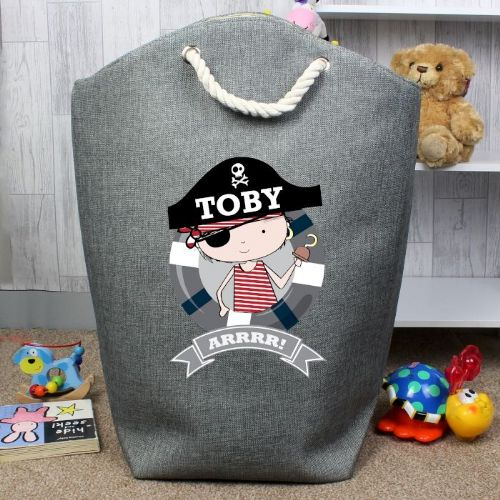 Personalised Pirate Laundry Bag
